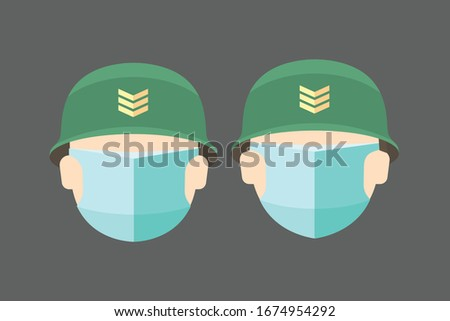 soldier with mask face icon