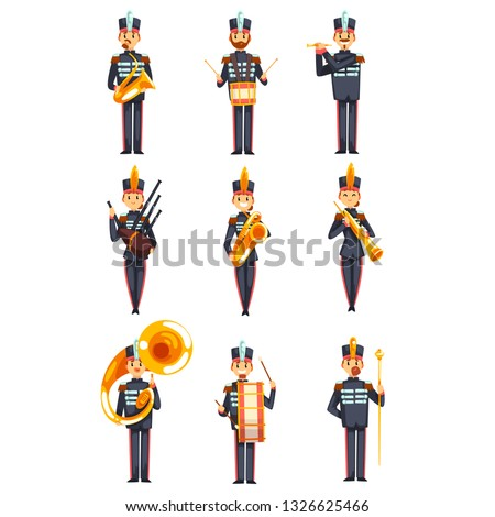 soldiers playing musical
