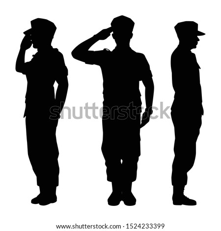 soldiers silhouette vector on
