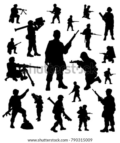 soldiers silhouettes collection