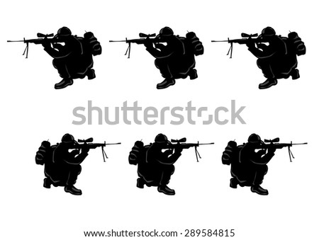 soldiers sniper rifle