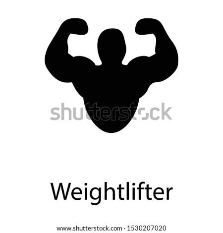 Solid bicep muscle vector design