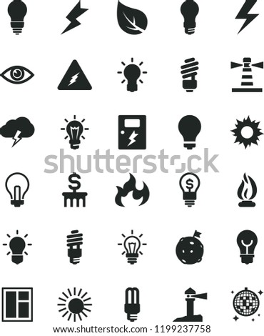 solid black flat icon set