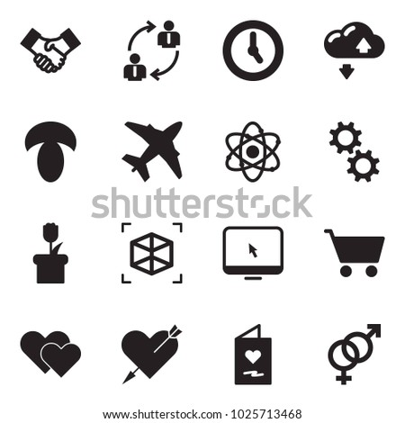 solid black vector icon set