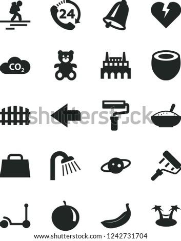 solid black vector icon set