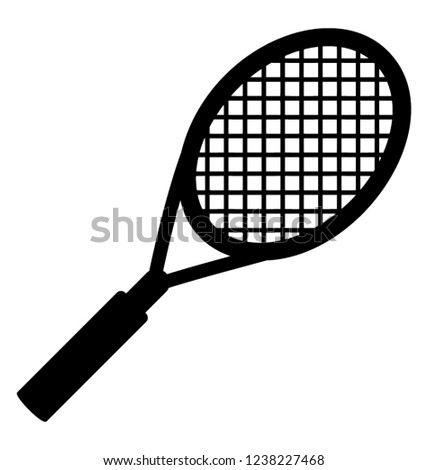 Solid icon design of racket