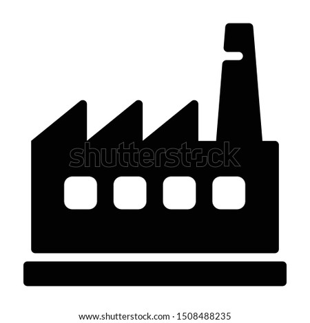 Solid icon of industry building