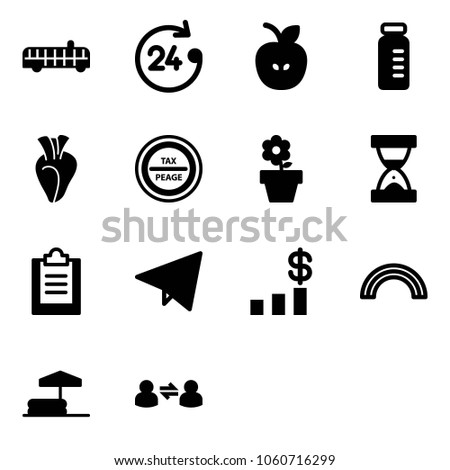 solid vector icon set   airport