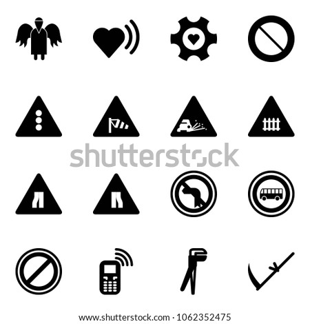solid vector icon set   angel