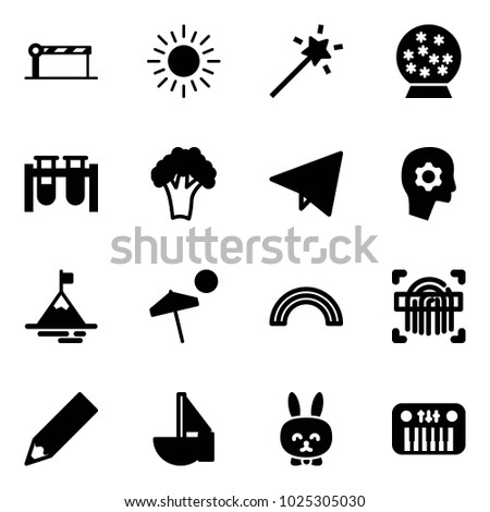 solid vector icon set   barrier