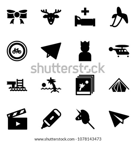 solid vector icon set   bow