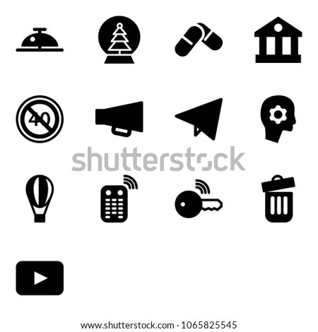 solid vector icon set   client