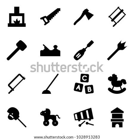 solid vector icon set