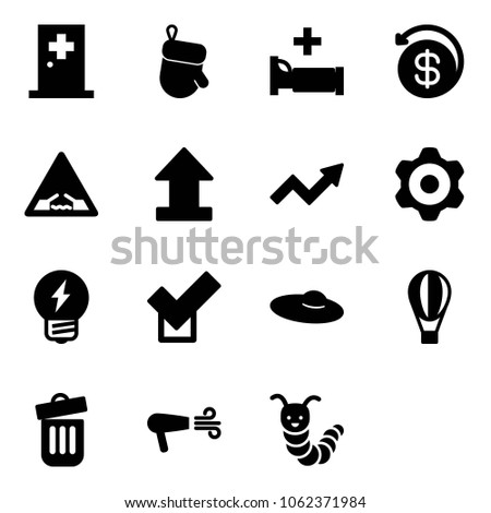 solid vector icon set   first