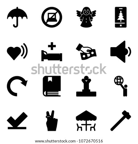 solid vector icon set
