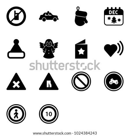 solid vector icon set   no