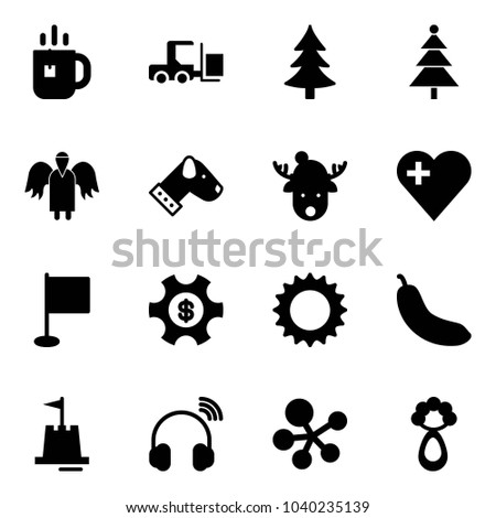 solid vector icon set   tea