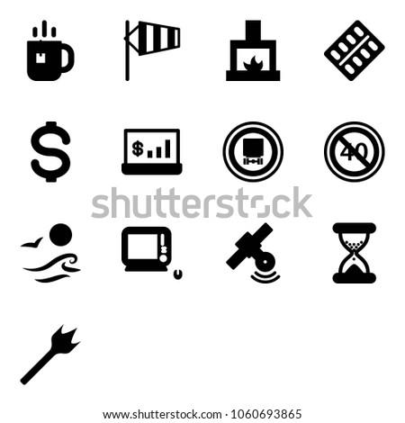 solid vector icon set   tea
