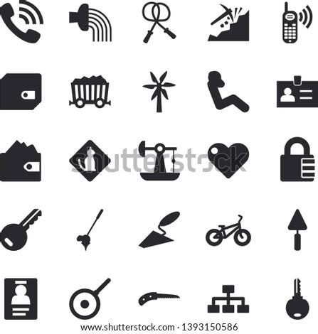 solid vector icon set   trowel