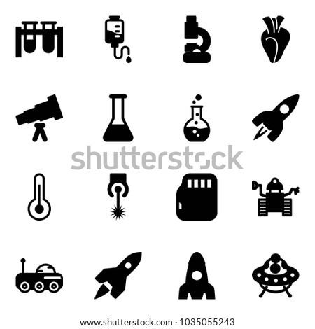 solid vector icon set   vial