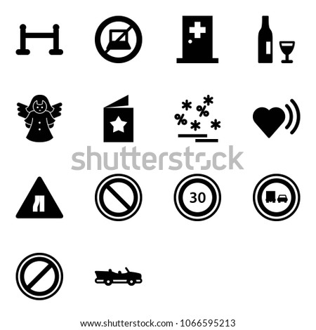 solid vector icon set   vip