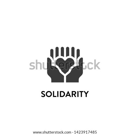 solidarity icon vector. solidarity vector graphic illustration