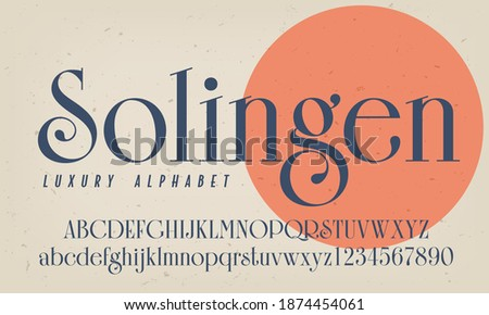 Solingen is an elegant luxury alphabet appropriate for high class logos and marketing. Stockfoto ©