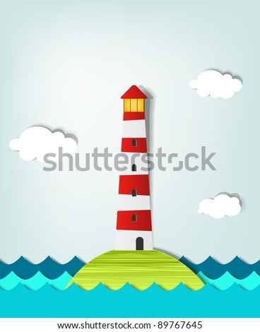 Solitary Island lighthouse