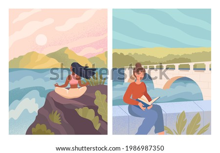 solitude concept female in