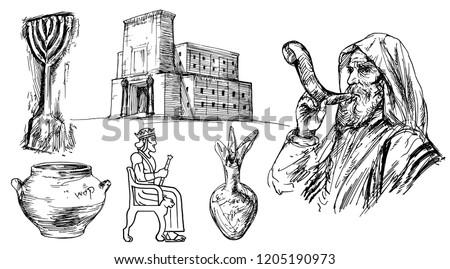 Solomon's temple in Jerusalem.
