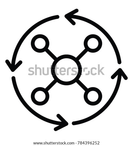 Solution finder or creative thinking process line icon