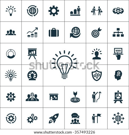 solution Icons Vector set