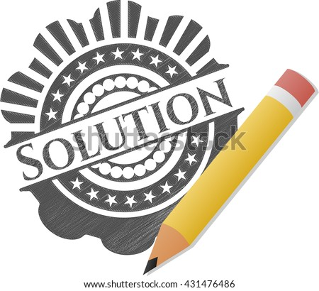 Solution pencil emblem