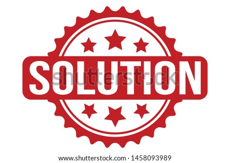 Solution Rubber Stamp. Solution Stamp Seal – Vector