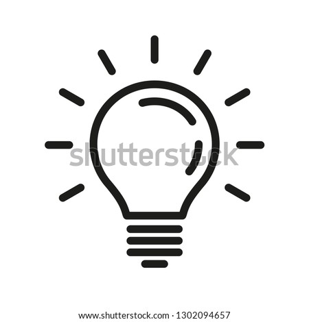 Solution symbol, lamp icon, idea