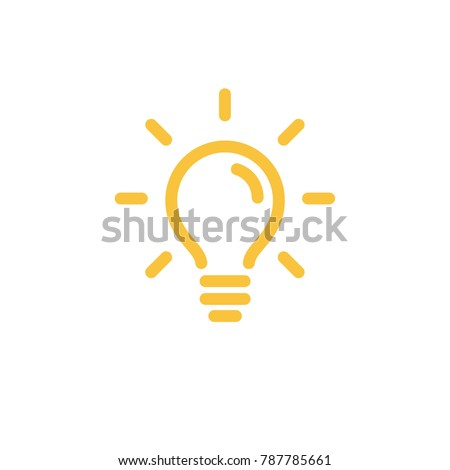 Solution symbol, lamp icon, idea