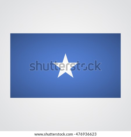 Somalia flag on a gray background. Vector illustration #476936623