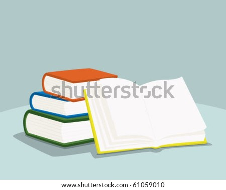 some books. - stock vector