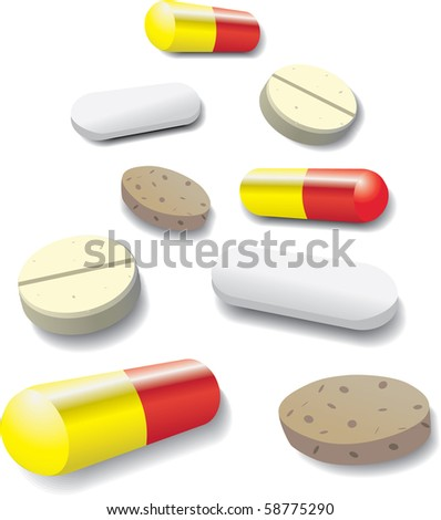 some pills and tablets - illustration
