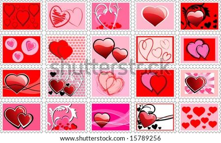 Clipart Heart Border. Blue love hearts border