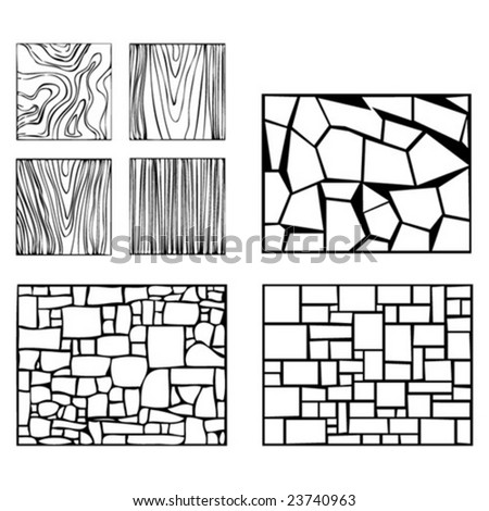 Some wood and wall examples of textures