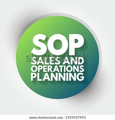SOP - Sales and Operations Planning acronym, business concept background Stock fotó ©