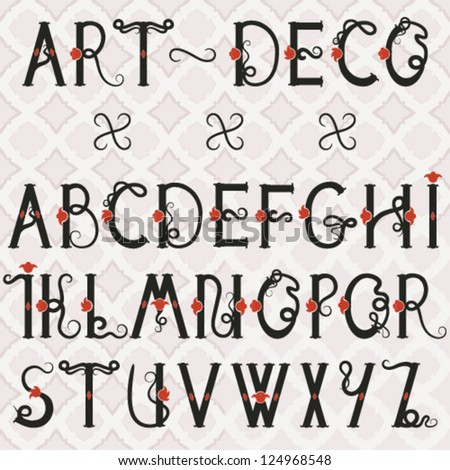 Sophisticated font in Art Deco style