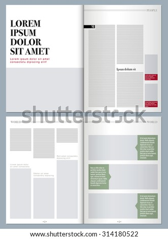 sophisticated magazine layout template  #314180522