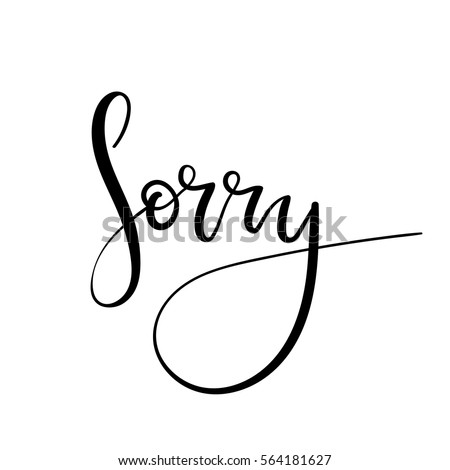 sorry hand lettering card