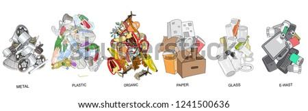 sorted garbage set different