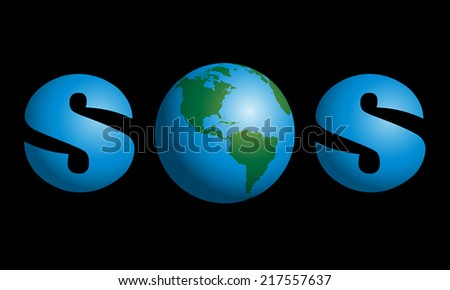 sos with planet earth in the