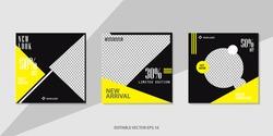 Sosial media template background, editable sale banner for web, poster design template, vector illustrasion
