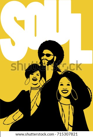 soul music poster group of man