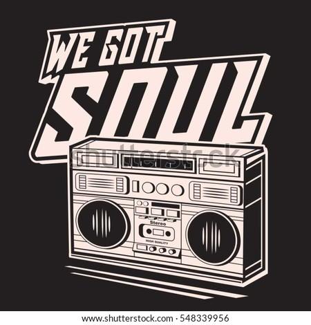 soul music typography  tee